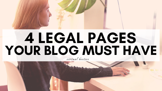 4 Legal Pages your Blog must Have